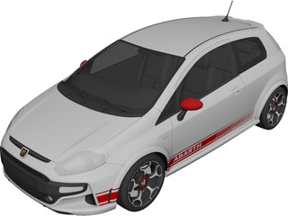 Fiat Punto Abarth (2011) 3D Model 3D Preview