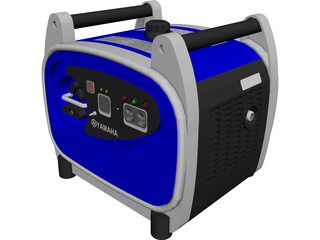 Yamaha EF2400iS Generator 3D Model