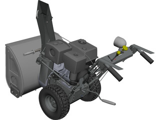 Snowblower CAD 3D Model