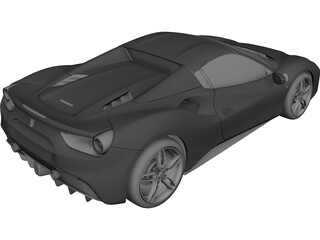 Ferrari 488 GTB Spider (2016) 3D Model 3D Preview