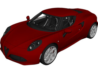 Alfa Romeo 4C Coupe (2014) 3D Model