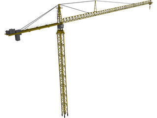 Leibherr 550 Tower Crane 3D Model