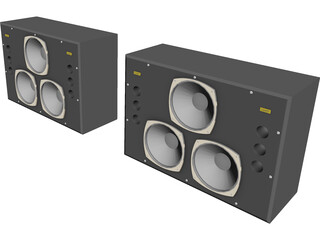 Tannoy Dreadnought Studio Monitor Speakers 3D Model