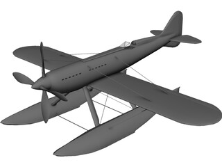 Macchi MC72 3D Model