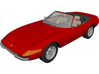 Ferrari 365 GTS4 Daytona Spyder (1972) 3D Model 3D Preview