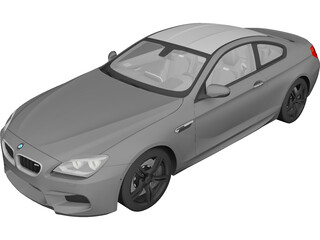 BMW M6 Coupe (2014) 3D Model