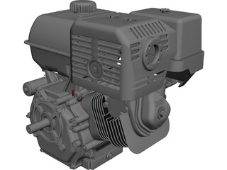 Honda GX390 Engine CAD 3D Model