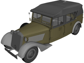 Mercedes-Benz 170 VK Kubelsitzwagen (1938) 3D Model