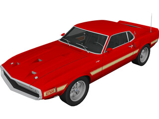 Ford Mustang GT500 (1969) 3D Model