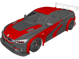 BMW M4 Coupe GTR (2015) 3D Model