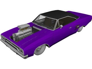 Plymouth GTX Mod 3D Model