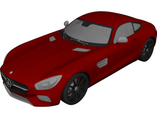 Mercedes-Benz AMG GT (2016) 3D Model 3D Preview