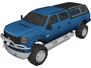 Dodge Pickup XL 3D Model