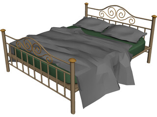 Iron Bed 3D Model 3D Preview