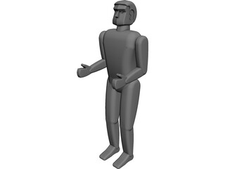 Six Feet Tall Person 3D Model