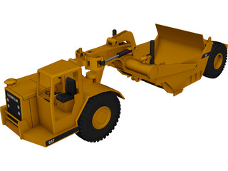 Caterpillar Grader 3D Model 3D Preview