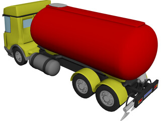 DAF Tanker Straight Truck 3D Model