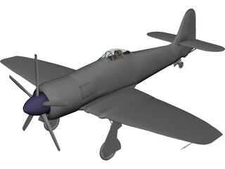 Hawker Sea Fury 3D Model