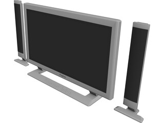 Fujitsu PlasmaVision TV 3D Model 3D Preview