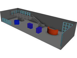 Room and Office 3D Model