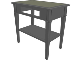 Walnut Nightstand 3D Model