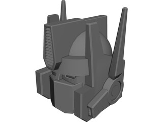 Transformers Optimus Prime Head 3D Model