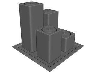 Candlestick 3D Model 3D Preview