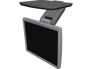 HP LCD Monitor 3D Model 3D Preview
