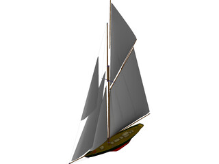 Britannia Sailing Yacht 3D Model 3D Preview