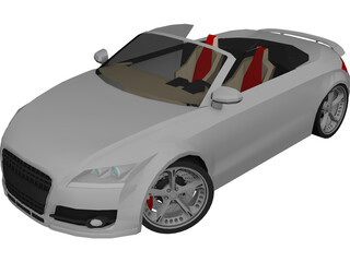 Audi TT Cabrio Roadster [Tuned] 3D Model 3D Preview