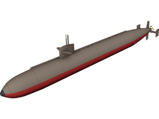 USS Dallas 3D Model
