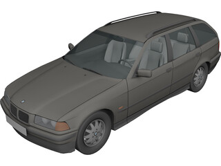 BMW 325i Touring (1995) 3D Model 3D Preview