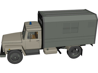 GAZ Russian Police Car 3D Model