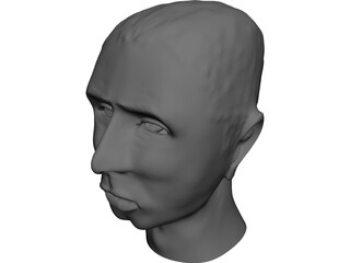 Head Johnie 3D Model