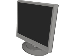 Flat Screen Monitor 17 inch 3D Model