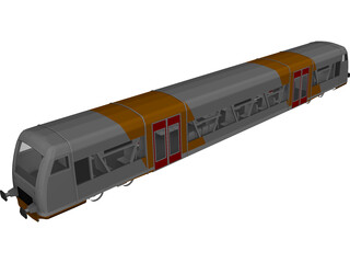 Train Germany 3D Model