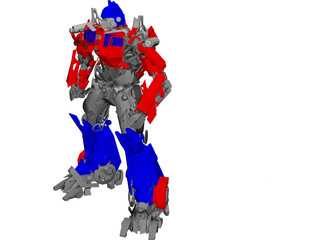 Transformers Movie Optimus Prime 3D Model