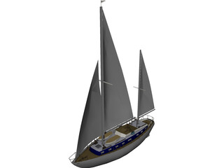 Sailboat 3D Model 3D Preview