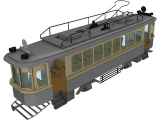 Trolley Russian WW1 Type-H 3D Model