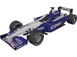 F1 Car Williams (2001) 3D Model