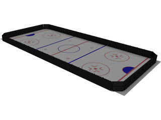 Ice Hockey Course 3D Model