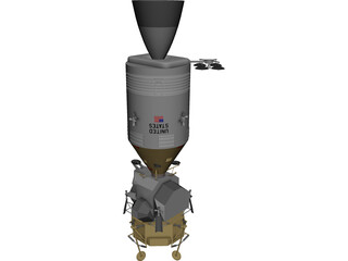 Apollo Pack Service + LEM 3D Model