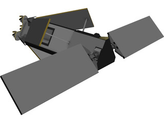 Iridium Constellation Satellite 3D Model