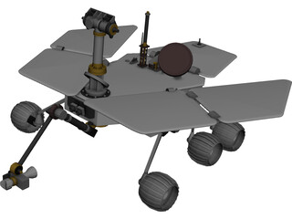 Mars Express Rover 3D Model 3D Preview