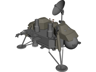 Mars Viking Probe Exploration 3D Model