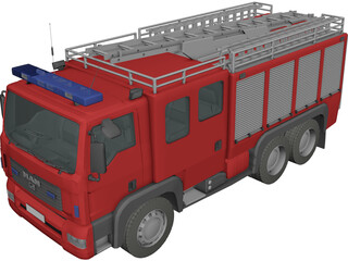 MAN TGL Fire Engine 3D Model