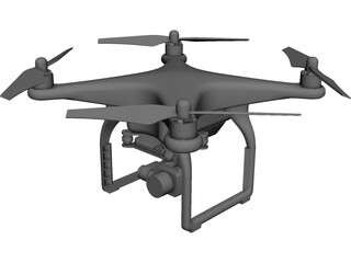 DJI Phantom 3 Drone CAD 3D Model
