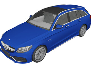 Mercedes-Benz C63 AMG W205 Estate (2015) 3D Model
