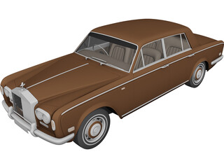 Rolls Royce Silver Shadow 3D Model