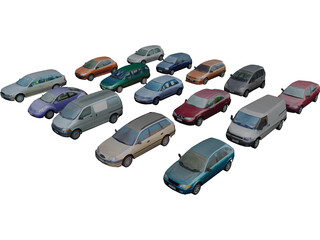 Collection of Cars 3D Model